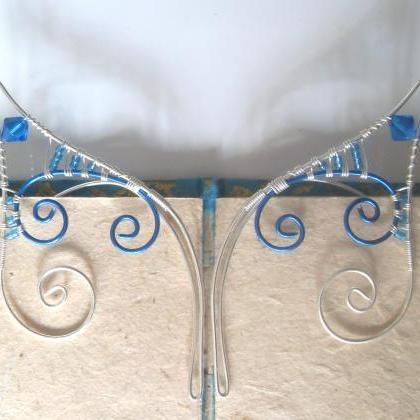 Elf Ear Cuffs! Blue & Silver Handma..